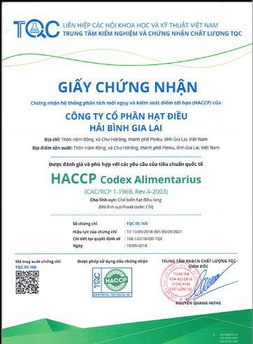 tư vấn giấy chứng nhận HACCP